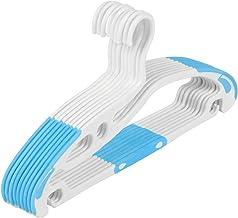 TXC- Hanger Seamless Non-Slip Clothing Support Household Clothes Rack Adult hanger Plastic hanger Multipurpose (Color : Blue)