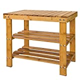 SoBuy® Portascarpe, scarpiera da ingresso, bambù,Anti-scivolo,FSR02-K-N, IT...