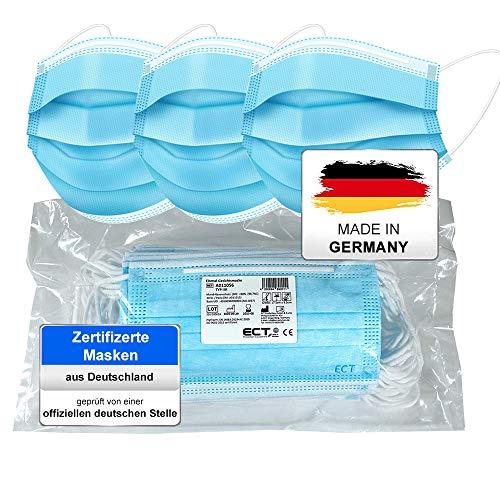 COCO BLANCO Medizinische OP Maske Mundschutz (MADE IN GERMANY) Typ IIR (CE Zertifiziert) DIN EN 14683 (25 Stück) Mund und Nasenschutz Einwegmaske Gesichtsmaske Schutzmaske