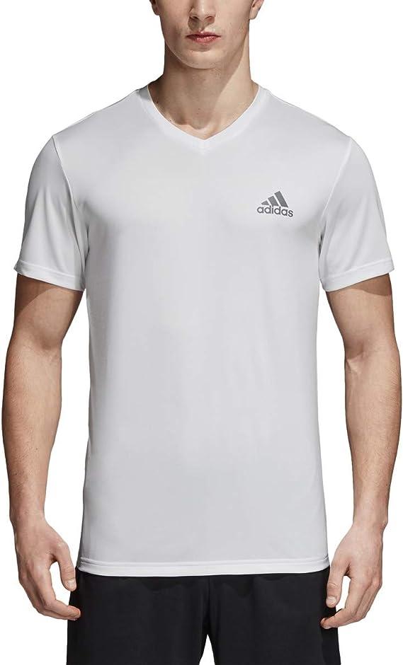 Amazon.com: adidas Men's Training Essentials Tech V-Neck Tee ...