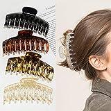4 Stück Große Haarklammer,4,3 Zoll Große Haarspangen für dickes Haar Rutschfestes Haar Jaw Clips...