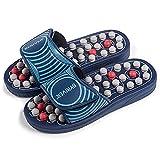 BYRIVER Masajeador de fascitis plantar, Zapatillas de masaje de pies de acupresión, Chancletas, Zapatos, Sandalias de reflexología regalo de relajación para mamá papá (05XS)