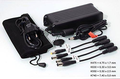 90W TUPower Universal Netzteil kompatibel mit Fujitsu Siemens Lifebook NH532 NH570 P701 P702 P771 P772 S710 S751 S752 S760 S761 S762 S781 S782 S792 AH532 2FGFX AH552 2FSL AH550 inkl. Stromkabel & Reiseetui