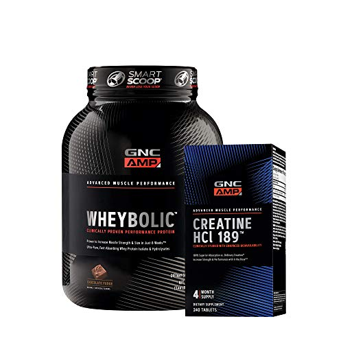 GNC AMP Protein + Creatine Boost Bundle