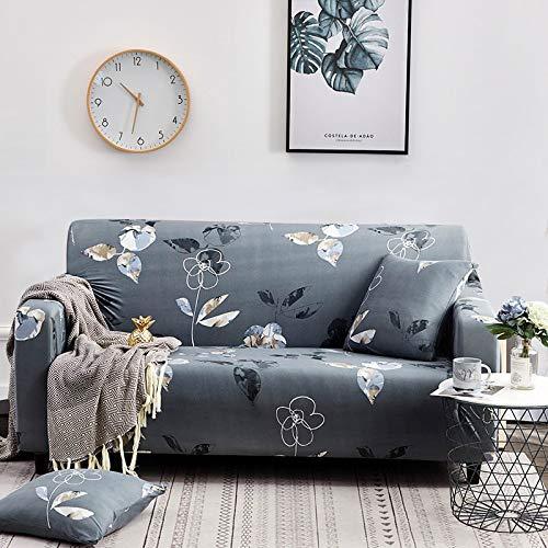 WXQY Fundas con Estampado Floral Funda de sofá elástica elástica Funda de sofá con protección para Mascotas Funda de sofá con Todo Incluido en Forma de L A24 2 plazas