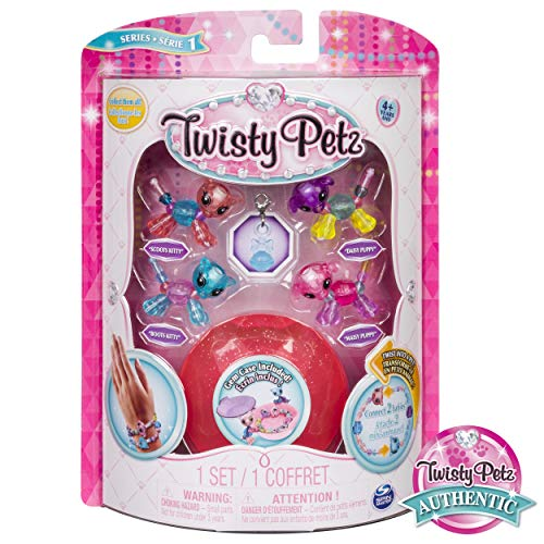 Twisty Petz – Babies 4-Pack Pandas and Puppies Collectible Bracelet Set for Kids - Boots Kitty -...