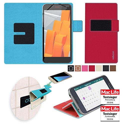 Hülle für Wileyfox Spark X Tasche Cover Hülle Bumper   Rot   Testsieger