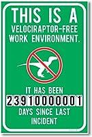 This is a velociraptor-フリー作業環境–新しいユーモアポスター