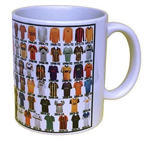Hull City Mug Hull Shirt History Mug Ceramic Mug Football Mug Shirts Through The Ages