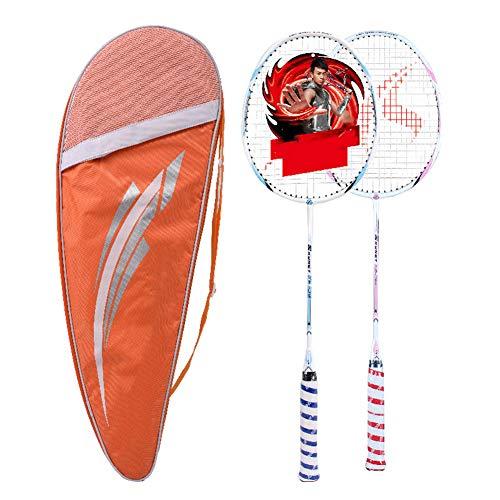 XINYAN JIA Carbonfaser Badmintonschläger Leicht,Langlebig,Nicht Leicht Verformen,Einfache Verteidigung,Schöner, Stärker Mit Premium Badmintonbeutel