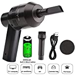 UKHONK Cordless Mini Vacuum Cleaner Rechargeable Keyboard Cleaner with Li-Battery for Cleaning Keyboard...