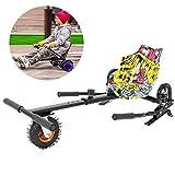 FLy Go Kart Asiento Ajustable Kart De Drift con Suspensión para Derrapar Y Hacer Trucos para Todo Terreno Compatible con Todos Los Patinetes Eléctricos De 6.5, 8 Y 10 Pulgadas Regalo para Niños