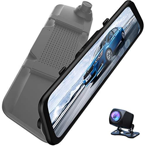 """LPWCAWL Dual Dash Cam, 12\"""" Touchscreen Spiegel Dashcam, 2K-Autokamera mit 170° Weitwinkel, G-Sensor, Nachtsicht, Schleifenaufzeichnung, Parküberwachung, Videoumkehr"""