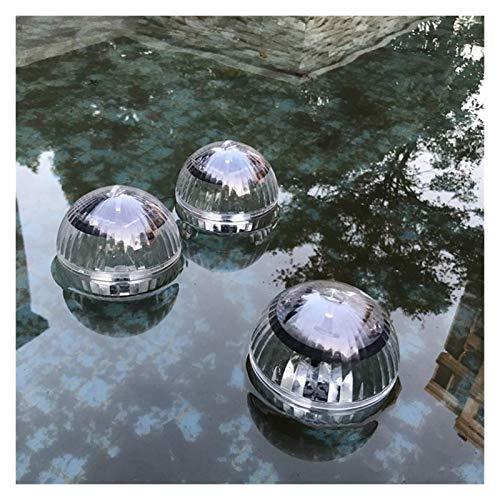 Luz De Estanque Flotante con Energía Solar A Prueba De Agua, Luz Solar LED Bajo El Agua, Luz De La Bola Colgante para Jardín Pool Pool Fish Decoration (Color : 1 Pcs, Size : Warm White)