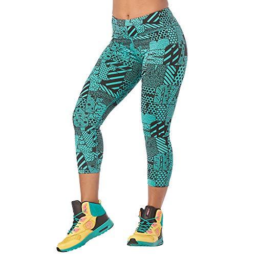 Zumba Active Fitness Compressie Capri-leggings stijlvolle sportbroek dames met print