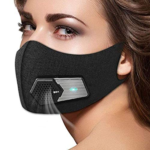 Amazing Deal Smart Electric Anti Dust Face Protector Shield Black - Anti Pollution Visors Washable R...