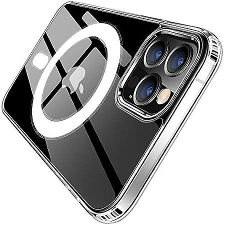 MagSafe 対応 マグネット搭載 iPhone12 ケース クリア iPhone12Proケース iPhone12 Pro ケース カバー バンパー クリアケース 12 iPhone12Pro 12Pro magsafe マグセーフ マグセイフ ハード iPhoneケース スマホケース 耐衝撃 衝撃吸収 アイフォン12 MagSafe (iPhone12 / 12 Pro (6.1), クリア)