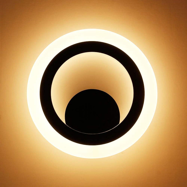 Xinxin24 Schlafzimmer Nachttischlampe Einfache Wandleuchte Gang Treppe Wohnzimmer Wandleuchte Gelbes Licht, 12 Watt