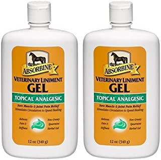 Absorbine Veterinary Liniment Gel, 12-Ounce (2-Pack)