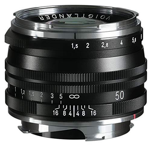 Voigtlander Nokton Vintage Line 50 mm f/1.5 Aspherical II VM lente multicapa, negro