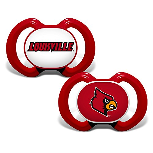 Baby Fanatic NCAA Legacy Infant Pacifiers, Louisville Cardinal, 2 Pack