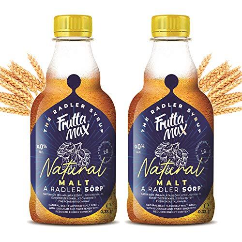FruttaMax Radler SÖRP Sirup | Fruchtsirup mit Biergeschmack | mit Isoglucose und Süßstoff | mit reduziertem Kaloriengehalt 2erPack(2x330ml)