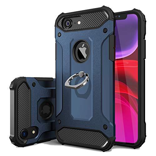 iPhone SE ケース / iPhone5s ケース / iPhone5 ケース リング付き 耐衝撃 TPU クリア 軽量 薄型 指紋防止 全面保護 米軍MIL規格取得 スタンド機能 スクラブ 防塵デザイン 薄くて軽い すり傷防止 カメラ保護 取り出し