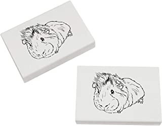 Azeeda 2 x 45mm 'Pet Guinea Pig' Erasers / Rubbers (ER00015708)