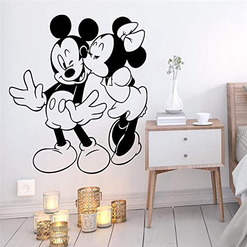 Greneric Cartoon Mickey Minnie Mouse Wall Sticker for Kids Room Home Decor Accessories Wall Sticker Vinyl Mural Art DIY Wallpaper