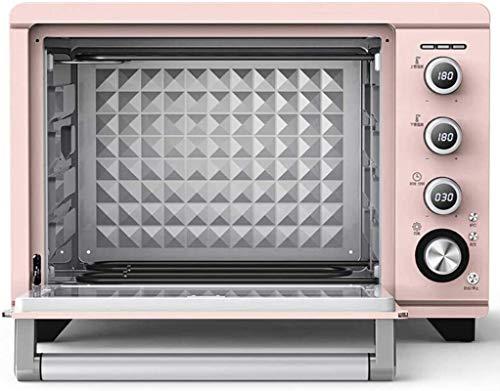 38L Mini horno rosado Temperatura ajustable 0-230 ℃ Y 120 minutos Tiempo de tiempo Control de temperatura de precisión multifuncional / ciclo de