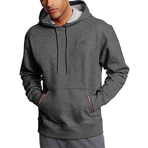 Champion Men's Powerblend Fleece Pullover Hoodie_Granite Heather_M