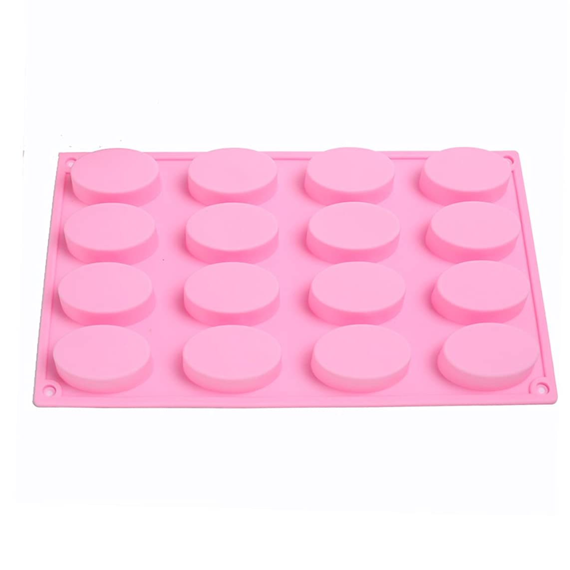 KALAIEN 16 Oval Cavities Chocolate Candy Maker Silicone Mold Cake Baking Mold Muffin Cup