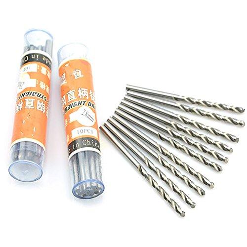 10Pcs 3.2mm Micro HSS Twist Drilling Bit Mini Electrical Drill Straight Shank Metal Drill