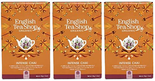 English Tea Shop Organic Intense Chai – 20 bolsitas de té de papel (paquete de 3)