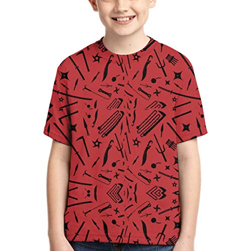CONNORWALTERS Polyester Teen Casual Boy Polyester Teen T-Shirt L