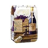 Estuche de lápiz Labial Estuche cosmético para Exterior Mini Bolso Soporte de Viaje portátil con Espejo Bolsa de Maquillaje Labial Bodegón de Botellas de Vino y Uvas
