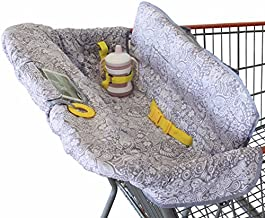 Shopping Cart Cover for Baby or Toddler | 2-in-1 High Chair Cover | Compact Universal Fit | Unisex for Boy or Girl | Includes Carry Bag | Machine Washable | Fits Restaurant Highchair | Sweet Dreams…