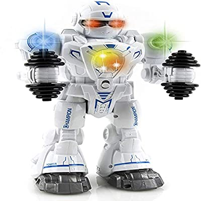 Toysery Walking and Dancing Robot Toy for Kids - Interactive Walking, Dancing Smart Robot Kit for Boys & Girls (Battery Operated)