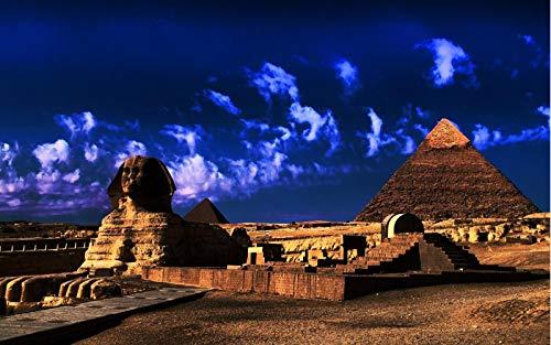 Puzzle 500 Piezas para Adultos De Madera 3D Niño Rompecabezas Cielo Azul Pirámide De Egipto Juego Casual De Arte DIY Juguetes Regalo Interesantes Amigo Familiar Adecuado
