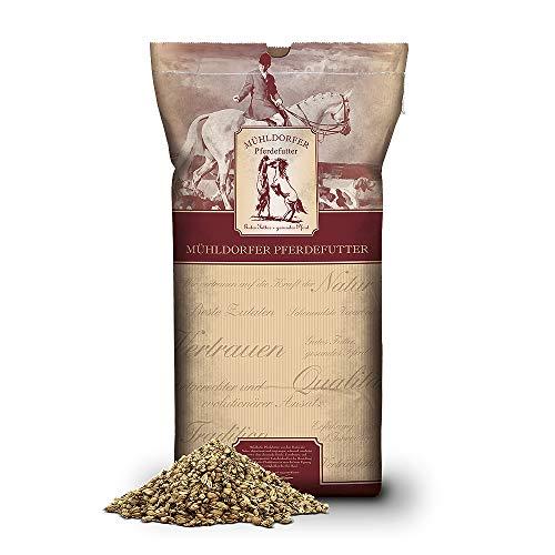 Mühldorfer Happy Mash haferfrei, 15 kg, schmackhaft, vielfältig, mit ätherischen Kräuterölen, stoffwechselanregend, Futter für alle Pferde und Ponys