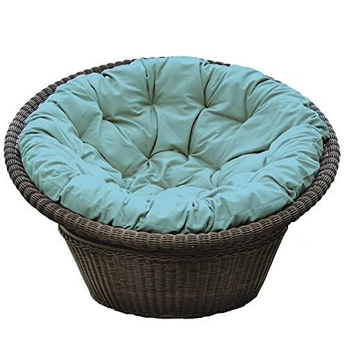 XHNXHN Almohadillas impermeables para silla de columpio sin soporte, acolchado grueso colgante cojín de asiento de huevo, cojín redondo para silla Papasan, 40 x 40 x 10 cm
