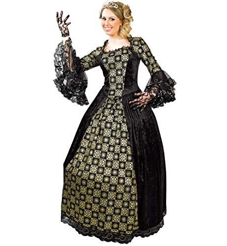 KarnevalsTeufel Damenkostüm, Damenkleid Barock, Ballkleid, in schwarz-Gold (40)