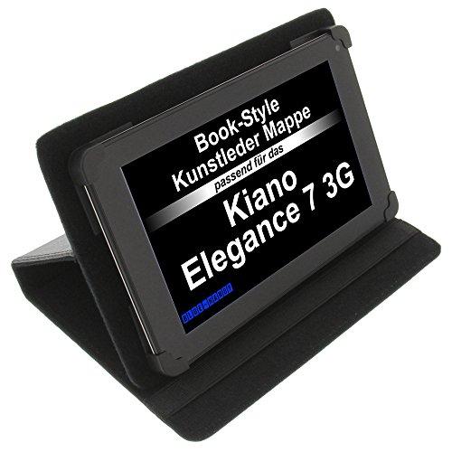 foto-kontor Tasche für Kiano Elegance 7 3G Elegance 7 3GR BookStyle Schutz Hülle Schwarz