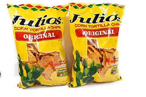 Julio's Seasoned Corn Tortilla Chips - 19 Ounce (Pack of 2)