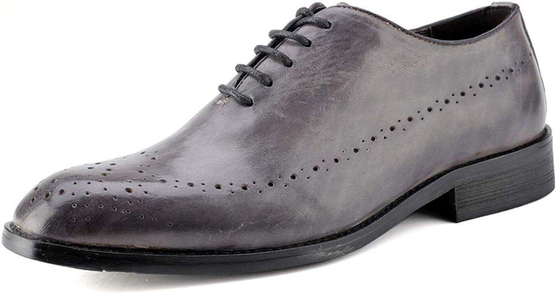 XIANGBAO-Personality Herren Oxford-Leder-Schnitzgürtel im britischen Stil, einfach, Grau - grau - Größe  39 EU