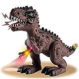 HYAKIDS Dinosaurios Juguetes para Niños, Eléctrico Realistas Figuras de Dinosaurios T-Rex con LED Lu...