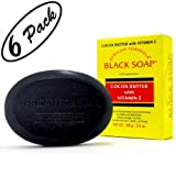 BLACK SOAP African Formula Cocoa Butter Vitamin E Jabon Negro Cacao 3.5oz - 6 PK by African Formula