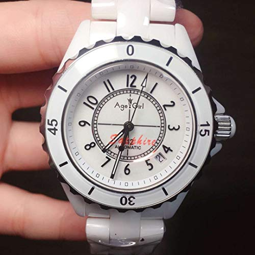 Luxury Brand Automatic Orologio Meccanico da Uomo Zaffiro Ceramic Silver White Black Ceramica Bezel Diamanti Sport 38mmNumero Bianco