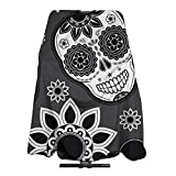 NiYoung Professional Salon Cape for Adults, Waterproof Black Skull Flower Salon Cape Lightweight Hairdressing Apron Hair-Cutting Gown, Skin-Friendly