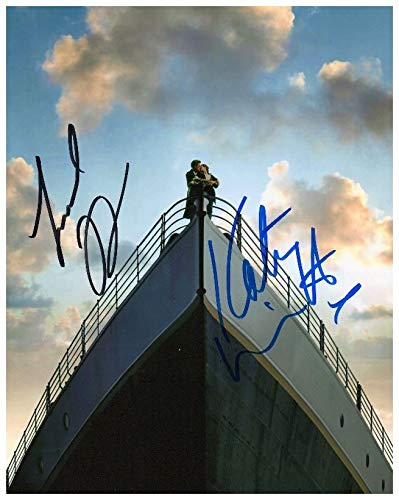 Photo Titanic – Leonardo Dicaprio & Kate Winslet Autogramm signiert 8 x 10
